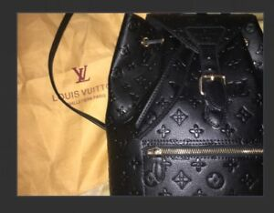 Luis Vuitton Black Backpack