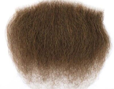 Brunette Big Bush Human Hair Merkin Female Male Pubic Toupee ultimate - Halloween Merkin