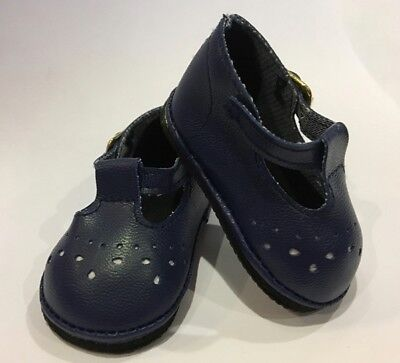 "Navy Blue T Mary Janes for 18"" American Girl or Baby Doll Shoes Clothes Lovvbugg"