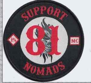 SUPPORT 81 NOMADS  MC Angels 666 Hells vest patch  Outlaw Biker 1% er NEW