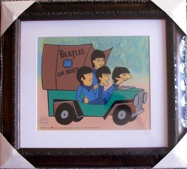 "THE ""BEATLES OR BUST""   Limited Edition  SERICEL with  COA FRAMED"