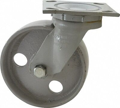 Fairbanks 6 Inch Diameter X 2 Inch Wide Swivel Caster With Top Plate Mount 7...