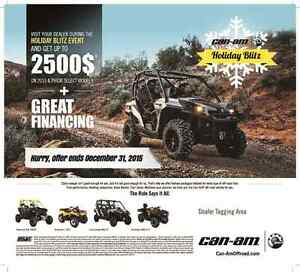 2015 & 2015 CAN-AM ATV AND SIDE-BY-SIDE  HOLIDAY BLITZ
