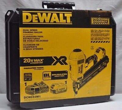 NEW DEWALT DCN692M1 20 VOLT MAX CORDLESS DUAL SPEED FRAMING
