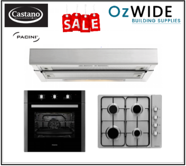 60 cm Kitchen Appliance Pack Cook Top Oven Range Hood SALE