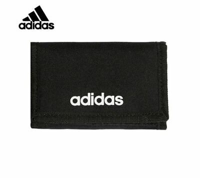 New Adidas Classic Linear Core Logo Trifold Wallet Life Style Accessory FL3650