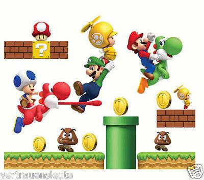 Wandtattoo Super Mario Wandaufkleber Kinderzimmer Wall sticker Kinder Deco