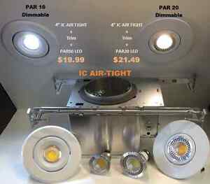 """Potlight New Construction 4"""" IC-Air Tight +Trim +LED :ONLY$19.99"""