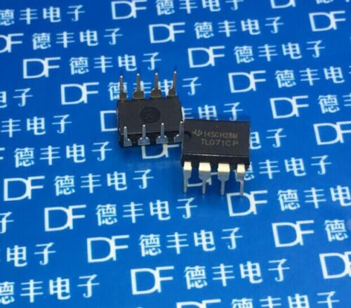 100pcs Tl071 Tl071cp Dip-8 Low Noise Jfet Input Operational Amplifiers Ti Ic