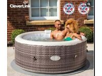 CLEVERSPA MAEVEA 4 PERSON HOT TUB JACUZZI WITH CLEVERLINK APP NEW SEALED BOX WITH WARRANTY