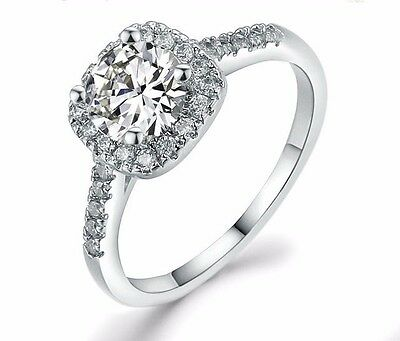 D/VVS1 Diamond Engagement Ring 2 Carat Round Cut 14k White Gold Bridal Jewelry