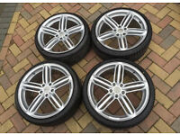 AUDI ALLOY WHEELS BRAND NEW 18 AND 19 INCH TYRES OR WITHOUT TYRES
