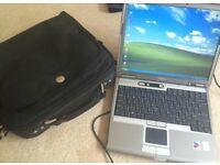 """DELL D610 Pentium 1.7GHz 1GB RAM 75GB Hard drive DVDRW Wi-Fi wireless 14"""" XP laptop cheap !"""