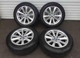 BMW 5 series F10 alloy wheels with goodyear runflats