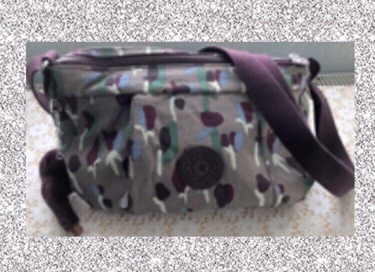 "ec100fe460b4 Brand New With Tags Kipling ""Ternura""Bag In ""Tulip Purple"" Print 🌟Price  Reduced🌟"