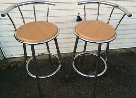 PAIR OF BREAKFAST BAR STOOLS