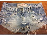 Woman's River Island denim shorts, size 6