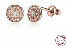 Rose gold earrings - NEW
