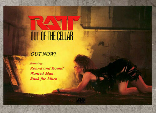 RATT poster Tawny Kitaen on the cover cover promo Out of the Cellar album
