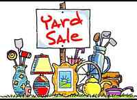 Having a yard sale today till 7 pm 1005 ave K north