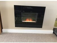 Contemporary Black Electric Fire