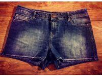 BRAND NEW Light Blue Denim Jean Shorts - Size 12