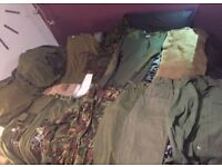 Several MILITARY Items of Clothing & Accessories JOB LOT Clearance