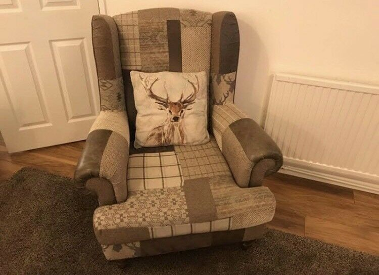 Dfs Shout Stag Patchwork Armchair In Vgc In Rotherham South