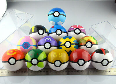 13PCS Pokemon pikachu Pokeball Cosplay Pop-up Master Ultra GS poke BALL Toy set