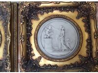 Two gold art decorative Italian pieces