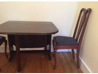 Drop-leaf Dining Table with Chairs