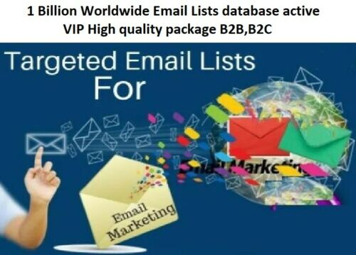 Billion Worldwide Email Lists database active VIP High quality package B2B,B2C