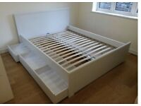Ikea double bed with under bed storage