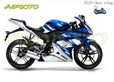 Fairing Kit Panels Bodywork for yamaha YZF-R125 2008-2013 blue white