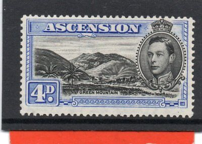 Ascension GV1 1938-53 4d black & ultramarine sg 42c H.Mint