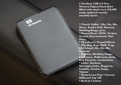 1TB EXTERNAL HARD DRIVE WITH 150,000 Songs *BEST PRICES GUARANTEED