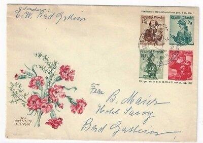 1954 Badgastein Austria, Multiple Value Costume Postal Stationery Entire](Postal Costume)