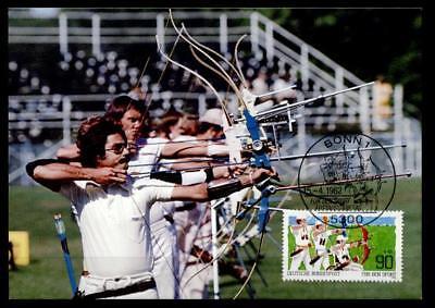 Bogenschießen. Behindertensport. Maximumkarte. BRD 1982