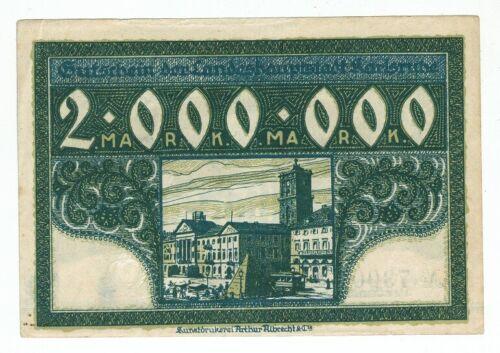 GERMANY BANKNOTE 2 MILLION MARK KARLSRUHE 1923