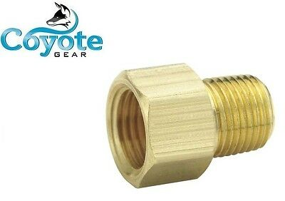 38 Inverted Flare Tube Female X 38 Npt Male Pipe Thread Adapter Coyote Gear
