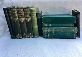 40 Vintage Antique Books ~ Green Theme ~ Wedding Table Displays, Events, Parties