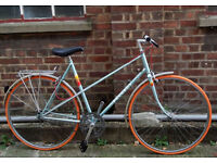 Vintage frame PEUGEOT single speed built by us - NEW parts : tyres, chain, brakes WARRANTY