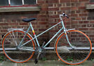 Vintage frame PEUGEOT single speed built by us - NEW parts : tyres, chain, brakes