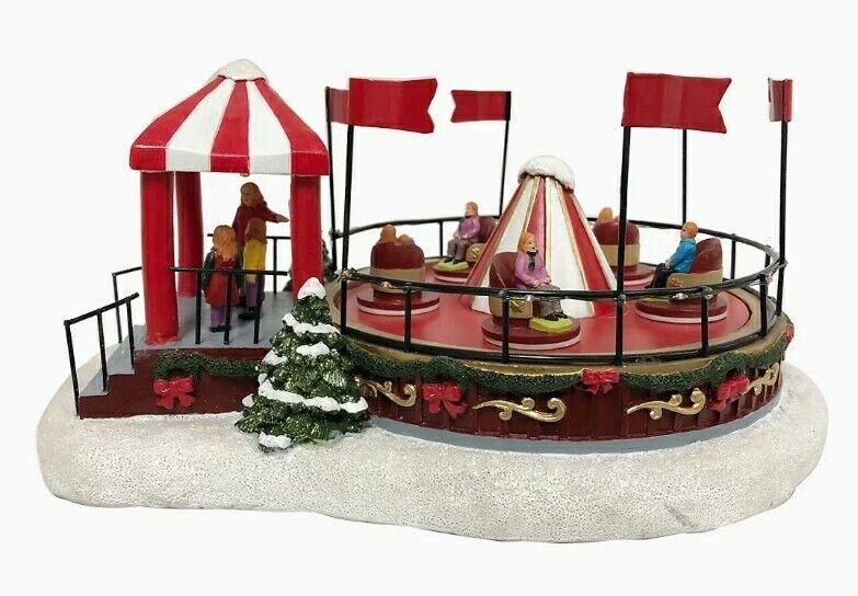 St. Nicholas Square Village Carnival Ride Illuminated Table Decor
