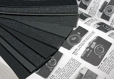 Camera light seal foam + felt 9 piece Self Adhesive & Plain *BUMPER PACK*