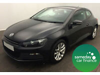 £229.47 PER MONTH BLACK 2011 VW SCIROCCO 2.0 TDI BMT 3 DOOR DIESEL MANUAL