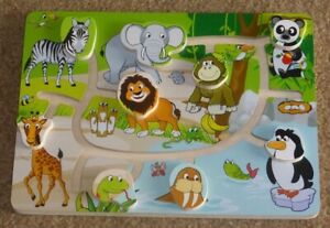 Wooden Animal Puzzle..Follow The Path