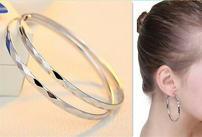 925 Sterling Silber Creolen groß Klapp Ohrringe Modeschmuck Ohrschmuck online kaufen