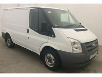 ONLY £178.20 PER MONTH WHITE FORD TRANSIT 2.2 260 TDCI SWB L/R PANEL VAN