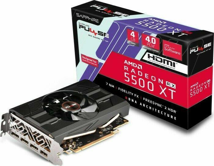 Grafikkarte Sapphire Pulse Radeon RX 5500 XT SF 4G 4GB GDDR6 HDMI 3x DP Gaming